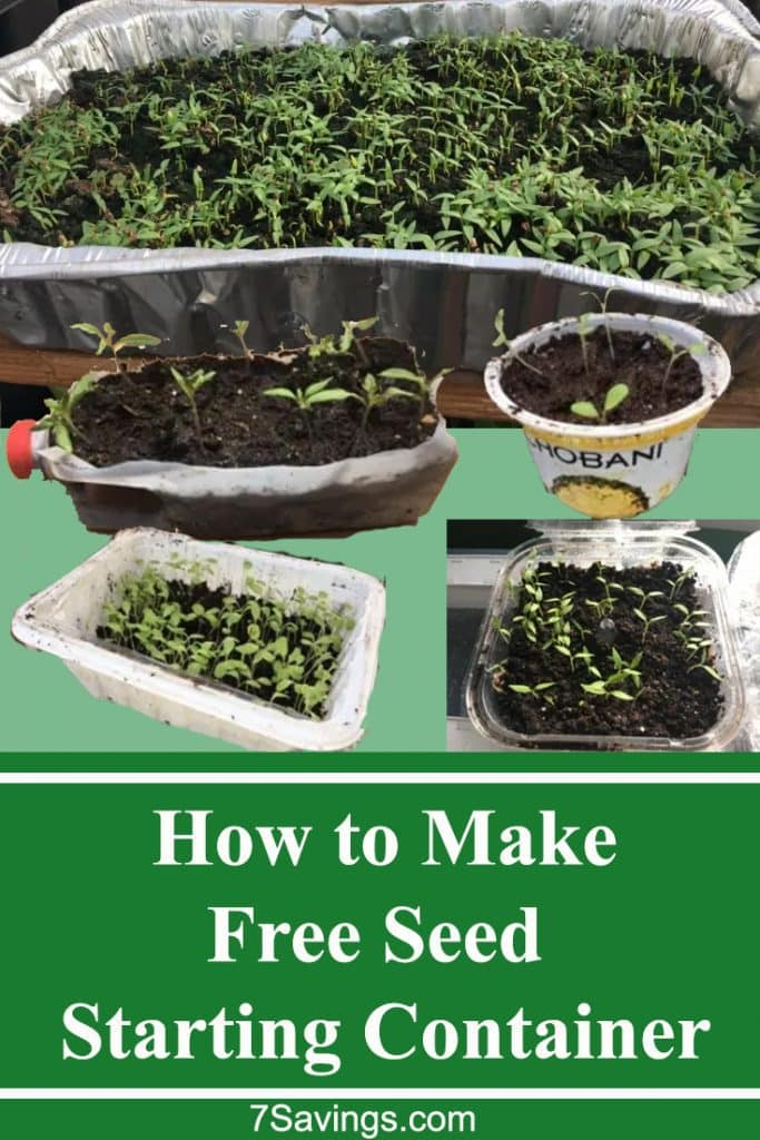 how to get free seed starting containers