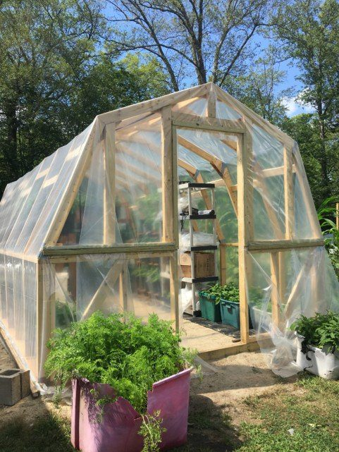plastic covered Greenhouse